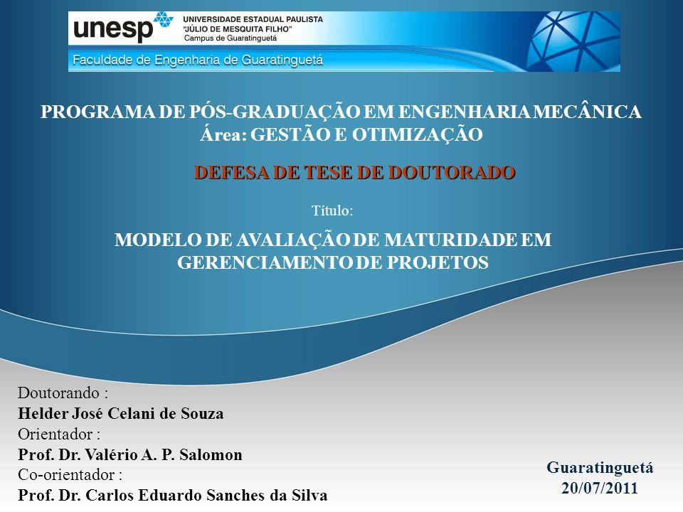 Doutorando : Helder José Celani de Souza Orientador : Prof. Dr. Valério A. P. Salomon Co-orientador : Prof. Dr. Carlos Eduardo Sanches da Silva Guarat