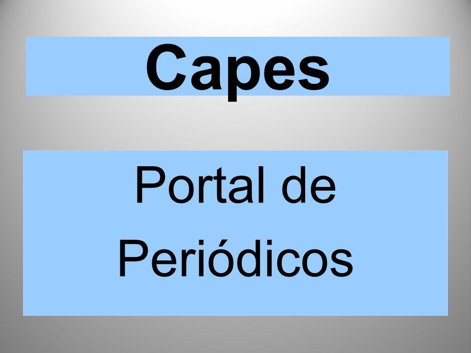 Capes Portal de Periódicos