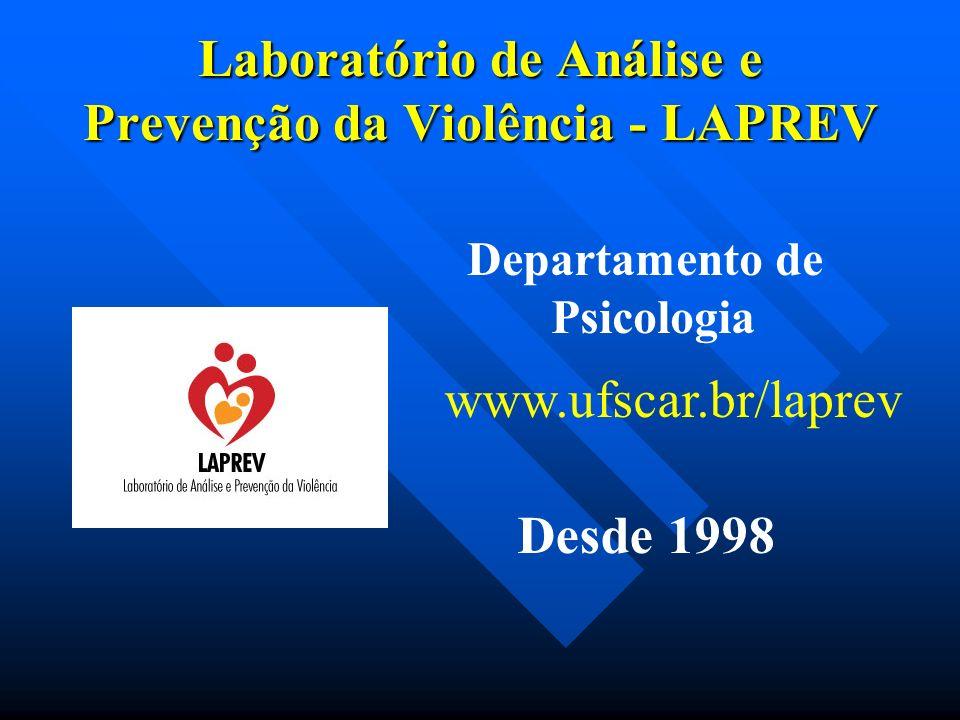 Laboratório de Análise e Prevenção da Violência - LAPREV www.ufscar.br/laprev Desde 1998 Departamento de Psicologia