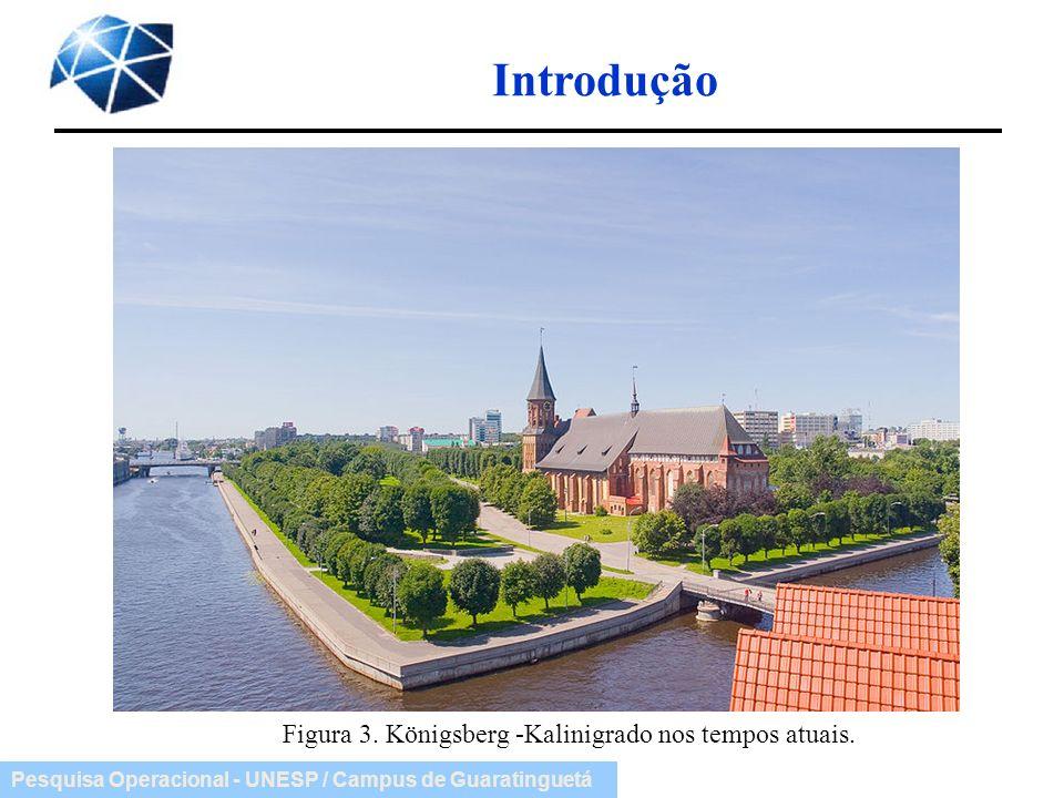Pesquisa Operacional - UNESP / Campus de Guaratinguetá Introdução Figura 3. Königsberg -Kalinigrado nos tempos atuais.