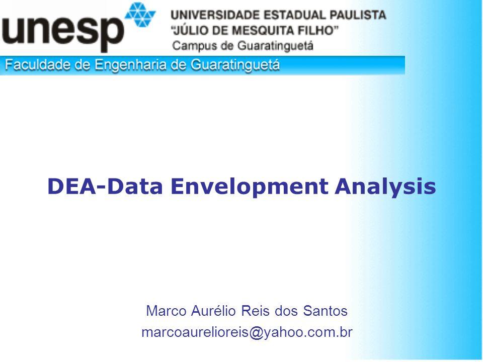 DEA-Data Envelopment Analysis Marco Aurélio Reis dos Santos marcoaurelioreis@yahoo.com.br