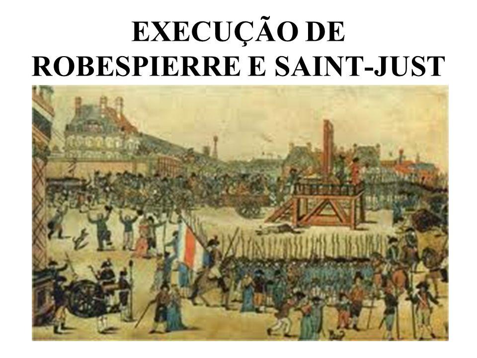 EXECUÇÃO DE ROBESPIERRE E SAINT-JUST