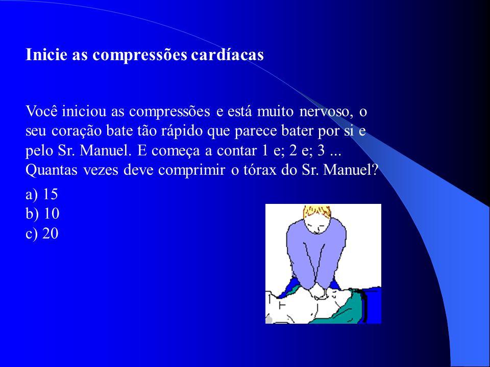 Em que local exato deve executar as compressões Em qual dos locais deve executar as compressões cardíacas? a) Área 1 b) Área 2 c) Área 3 d) Área 4