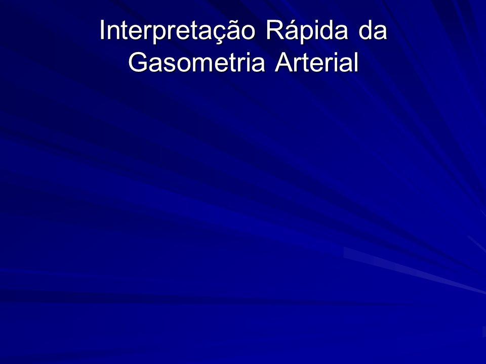 Interpretação Rápida da Gasometria Arterial