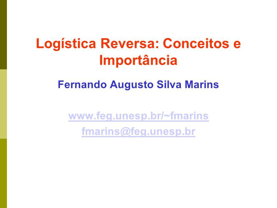 Logística Reversa: Conceitos e Importância Fernando Augusto Silva Marins www.feg.unesp.br/~fmarins fmarins@feg.unesp.br