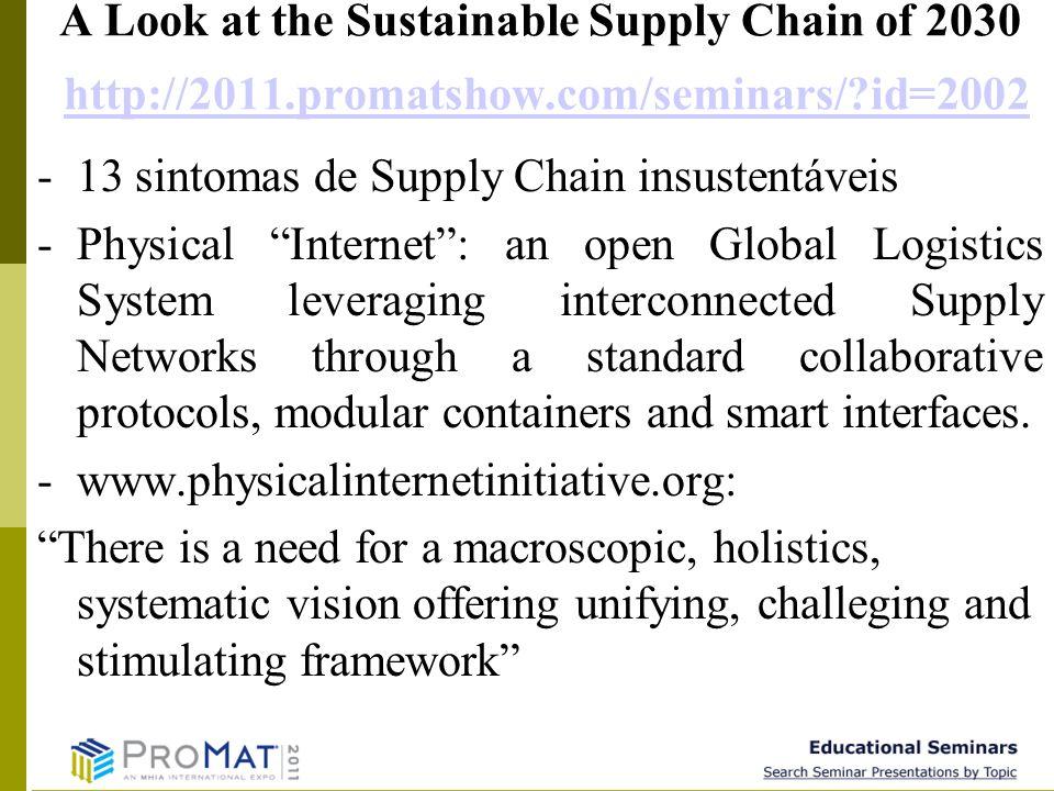 9 A Look at the Sustainable Supply Chain of 2030 http://2011.promatshow.com/seminars/?id=2002http://2011.promatshow.com/seminars/?id=2002 -13 sintomas