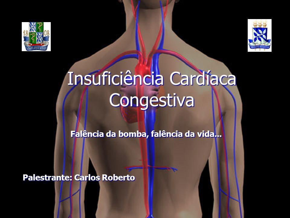 Insuficiência Cardíaca Congestiva Palestrante: Carlos Roberto Falência da bomba, falência da vida...