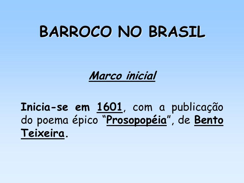 Autores do Barroco brasileiro (3) Na prosa: Padre Antônio Vieira – escreveu Sermões, entre 1679 a 1718.