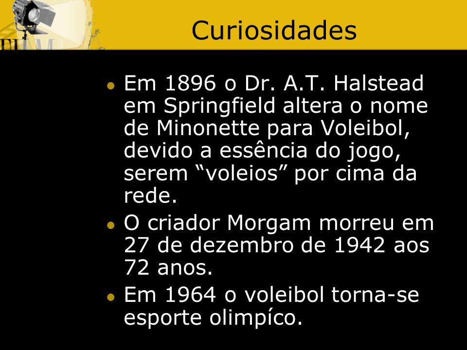 Curiosidades Em 1896 o Dr.A.T.