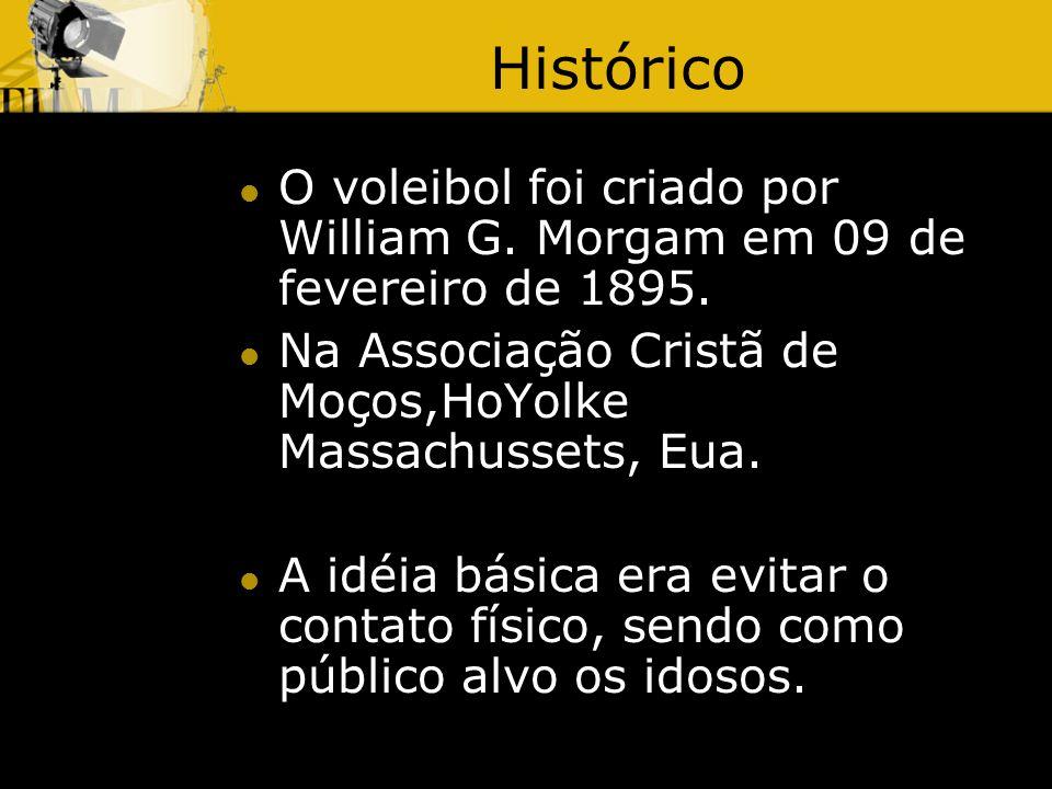 Histórico O voleibol foi criado por William G.Morgam em 09 de fevereiro de 1895.