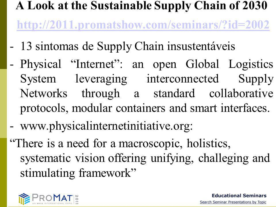 9 A Look at the Sustainable Supply Chain of 2030 http://2011.promatshow.com/seminars/?id=2002http://2011.promatshow.com/seminars/?id=2002 -13 sintomas