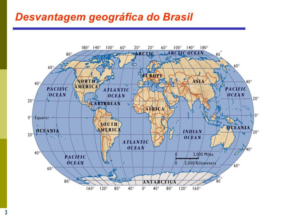 3 Desvantagem geográfica do Brasil