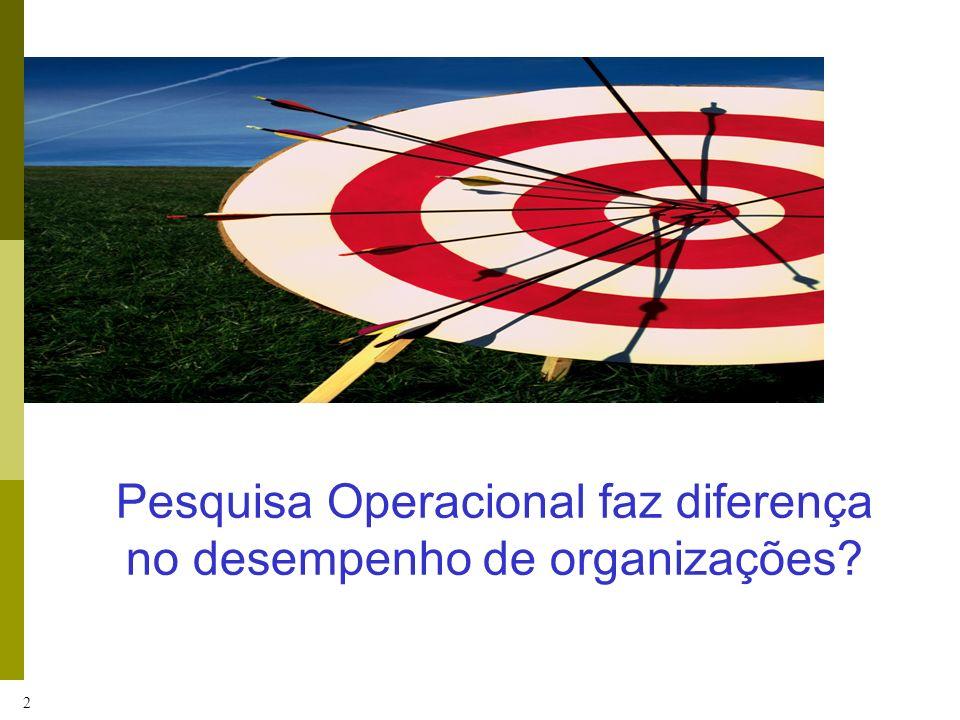 2 Pesquisa Operacional faz diferença no desempenho de organizações?