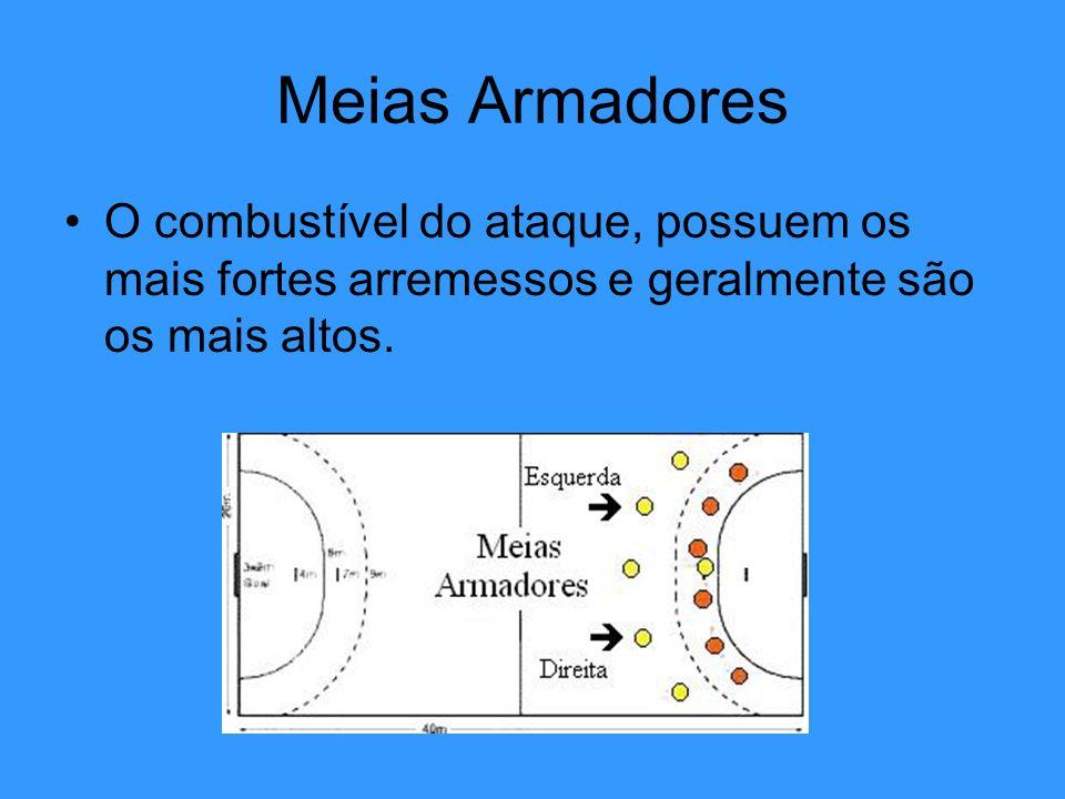 Meias Armadores O combustível do ataque, possuem os mais fortes arremessos e geralmente são os mais altos.