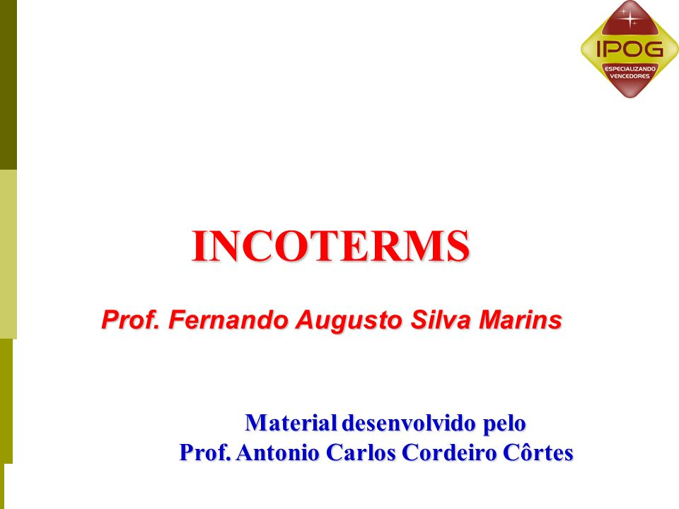 INCOTERMS Prof.