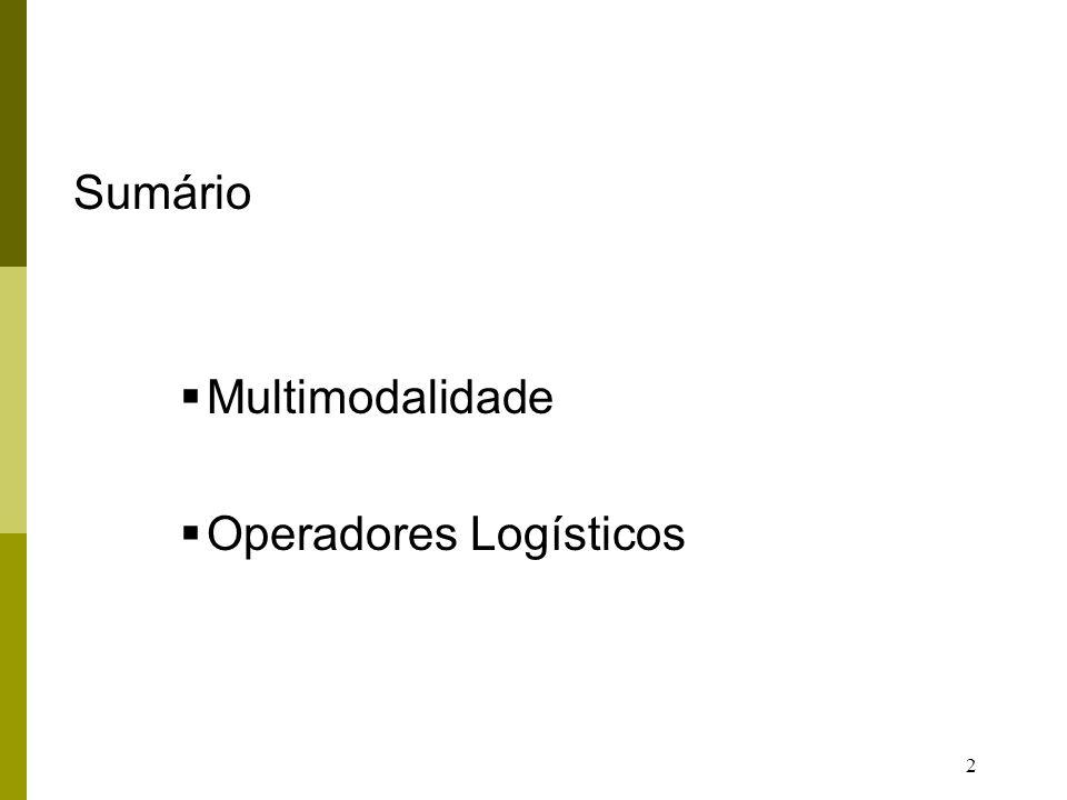 23 SERVIÇOS LOGÍSTICOS TRADICIONAIS Tendência: Concentração única atividade logística (Transportes, Armazenagem, etc).