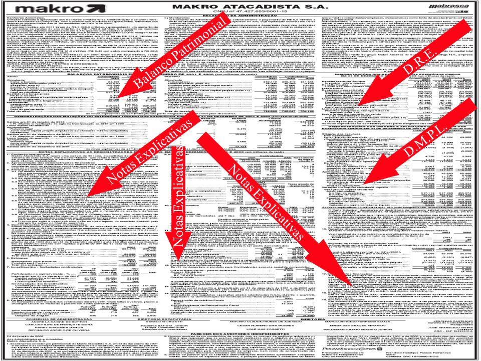 Finanças Corporativas GestãodaProduçãoGestãodaProdução 18/127 Balanço Patrimonial Notas Explicativas D.R.E. D.M.P.L. Notas Explicativas