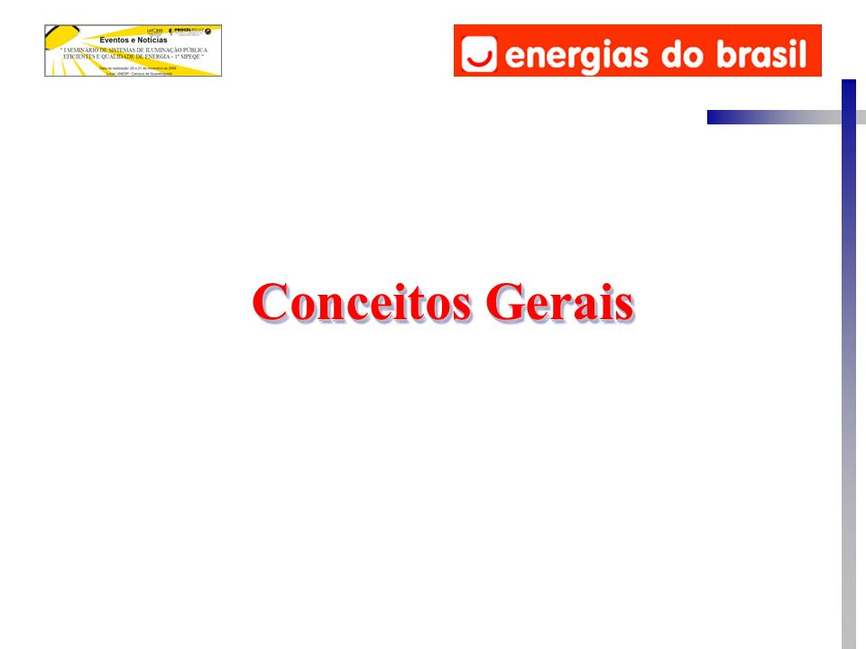 O Termo Qualidade da Energia Elétrica está relacionado com qualquer desvio que possa ocorrer na magnitude, forma de onda ou freqüência da tensão e/ou corrente elétrica.