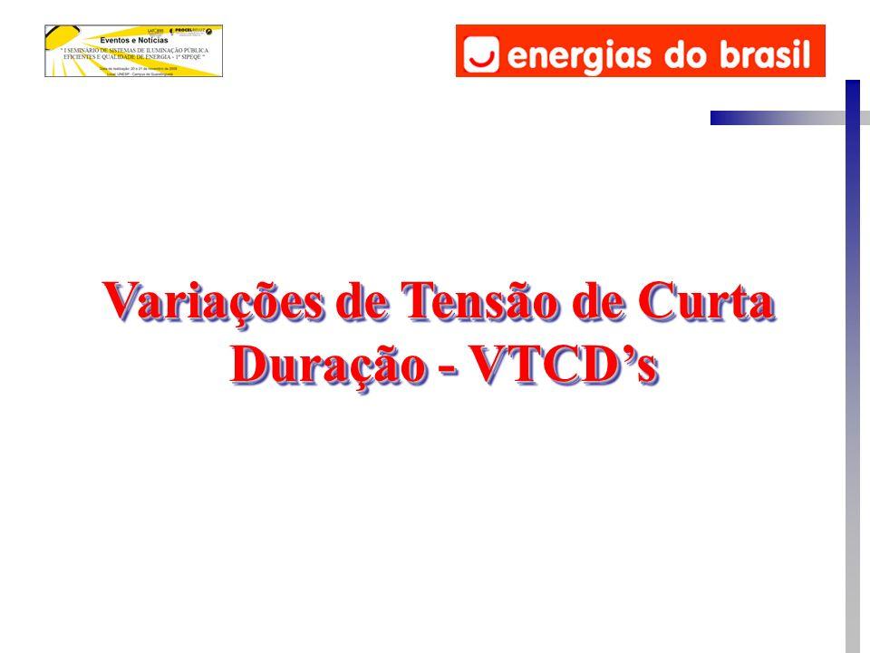 Variações de Tensão de Curta Duração - VTCDs Variações de Tensão de Curta Duração - VTCDs