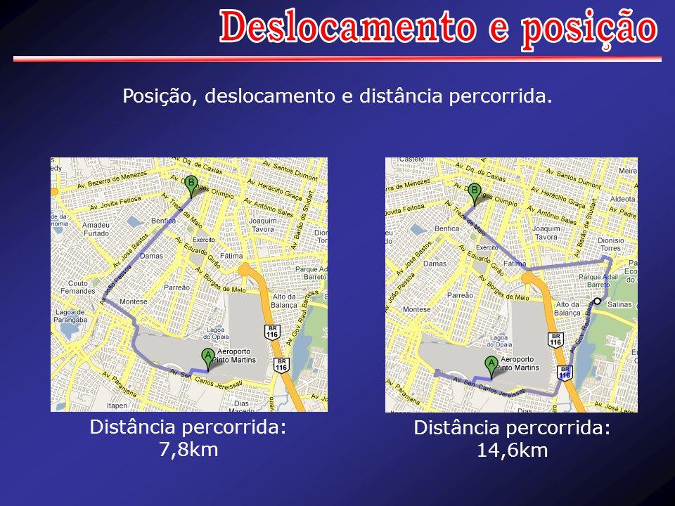Distância percorrida: 7,8km Distância percorrida: 14,6km