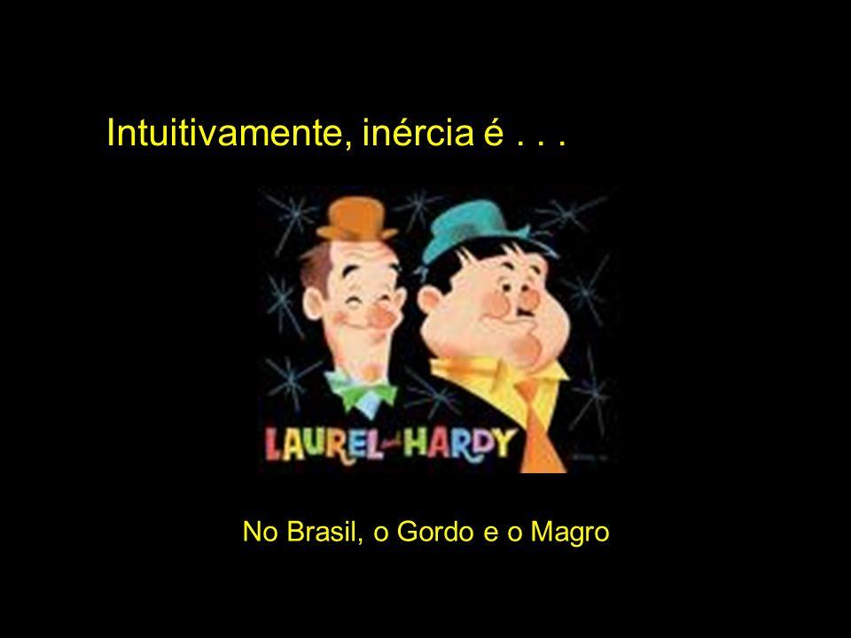 Intuitivamente, inércia é... No Brasil, o Gordo e o Magro