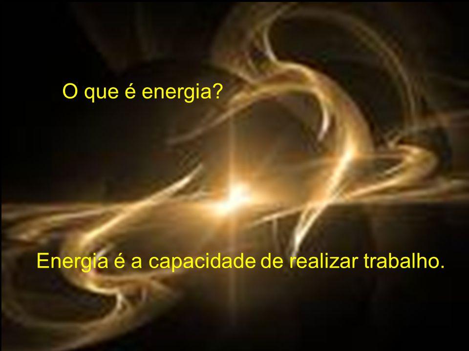 Energia é a capacidade de realizar trabalho. O que é energia?