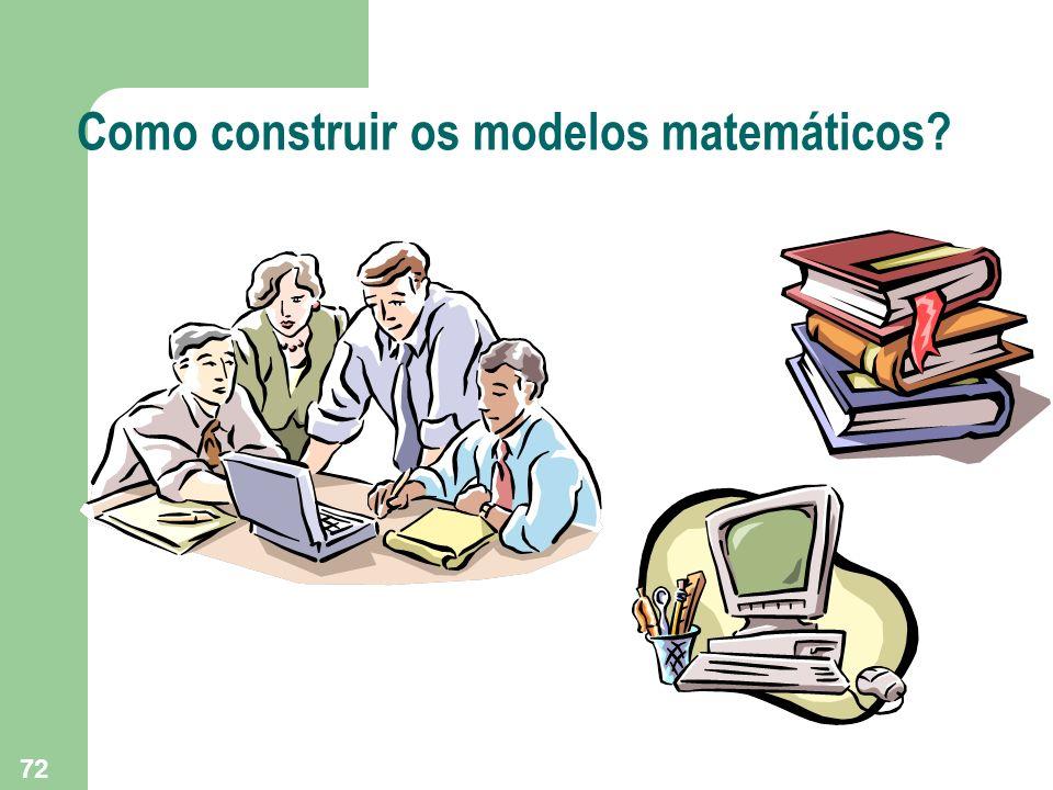 72 Como construir os modelos matemáticos?