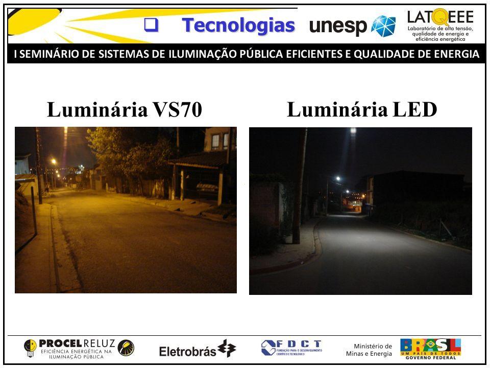 Tecnologias Tecnologias Luminária VS70 Luminária LED
