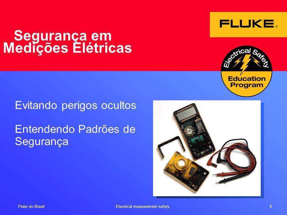 Fluke do Brasil Electrical measurement safety 5 Objetivo do Programa Educacional Objetivos: Concientização dos perigos em medidas elétricas Especificação de segurança em DMM e testadores Entendendo as quatro categorias de proteção Aprendendo como minimizar e evitar acidentes em medições elétricas Resumo: O que a potência elétrica pode fazer a um DMM – e em você Perigos comuns Organizações líderes em padrões de segurança Padrões de Segurança NFPA, IEC, NBR e NR10
