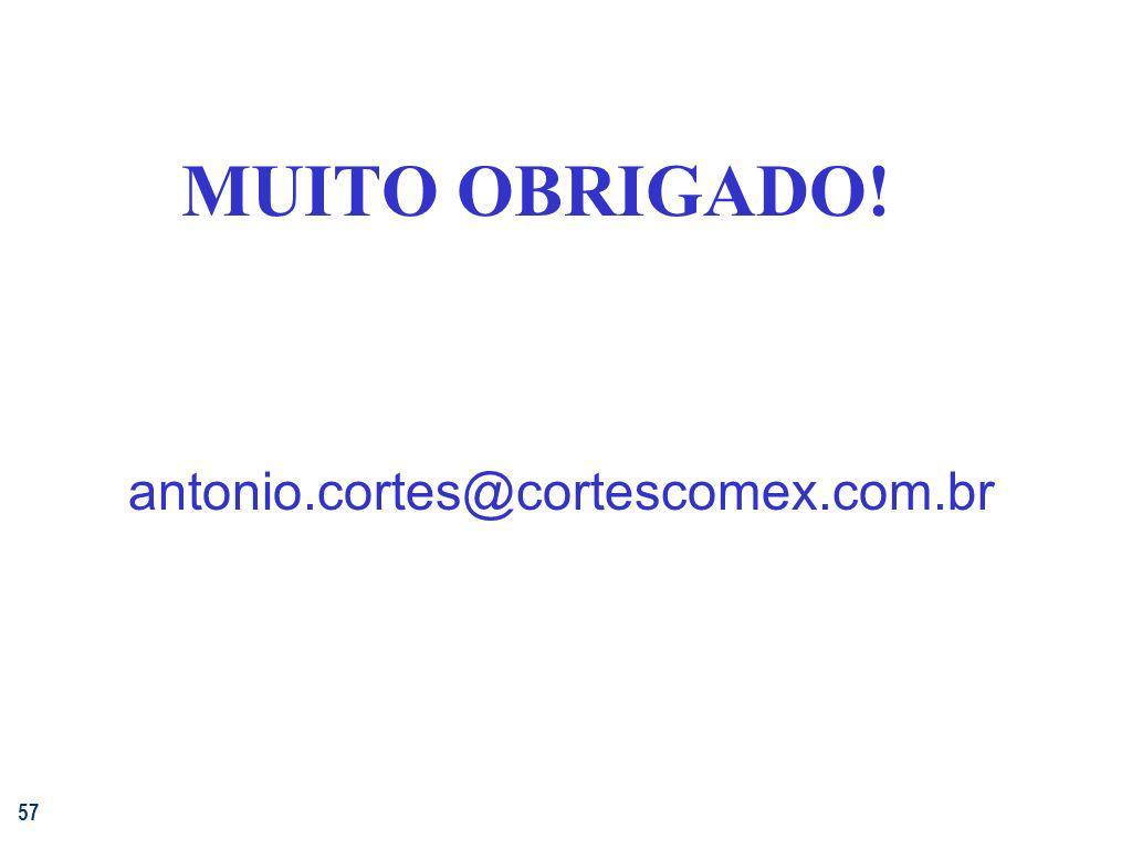 57 MUITO OBRIGADO! antonio.cortes@cortescomex.com.br