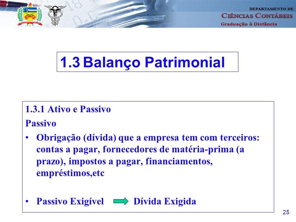 26 1.3.2 Patrimônio Líquido Recursos dos proprietários aplicados no empreendimento Capital.