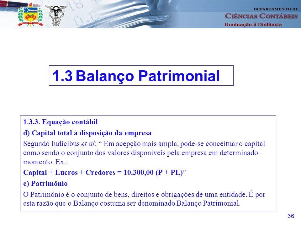 d) Capital total à disposição da empresa Segundo Iudícibus et al: Em acepção mais ampla, pode-se conceituar o capital como sendo o conjunto dos valores disponíveis pela empresa em determinado momento.