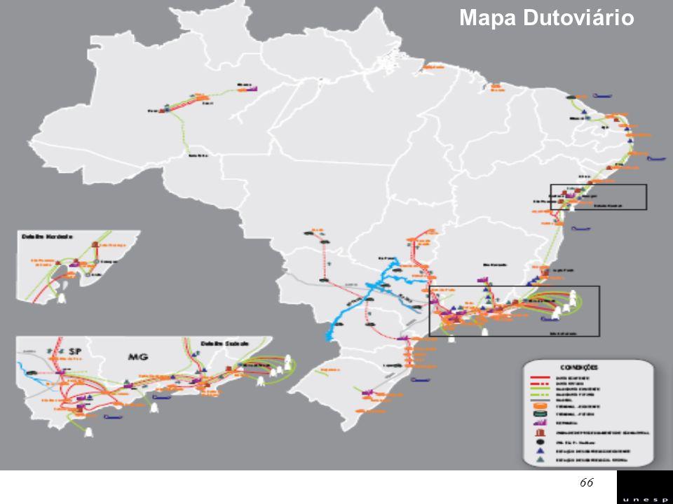 66 Mapa Dutoviário