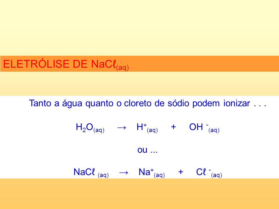 Tanto a água quanto o cloreto de sódio podem ionizar...