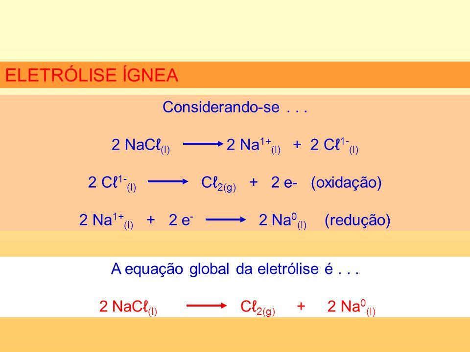 No processo de eletrólise aquosa os íons em solução irão competir entre si para descarregarem.