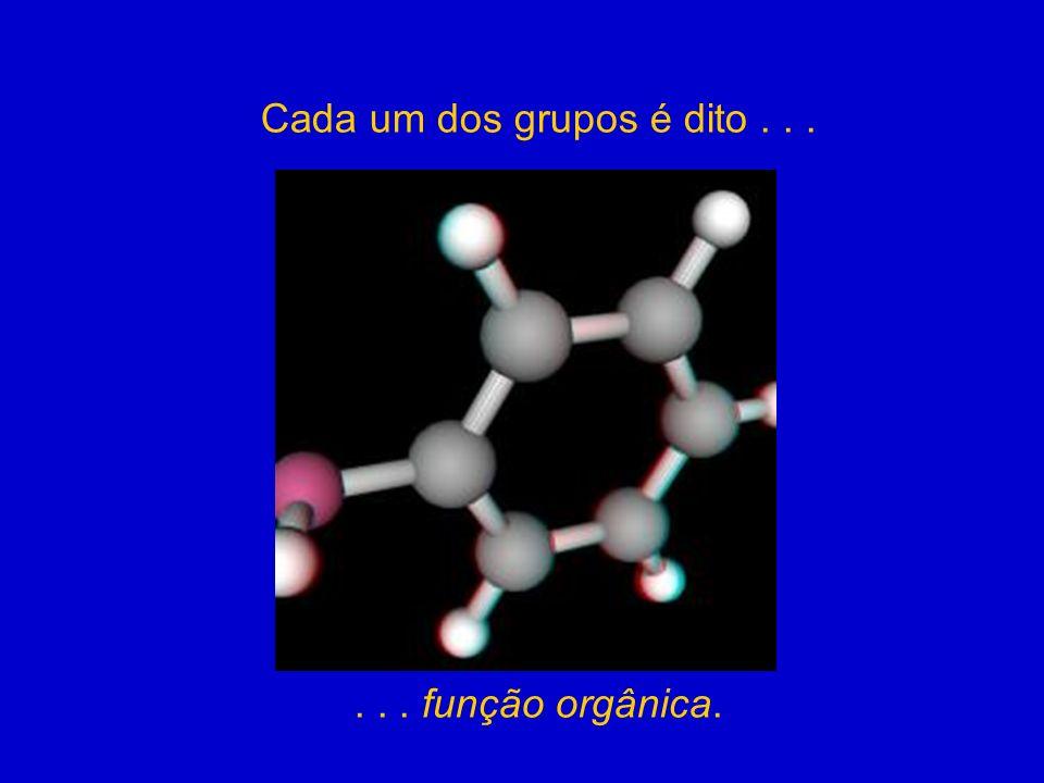 Cada um dos grupos é dito...... função orgânica.