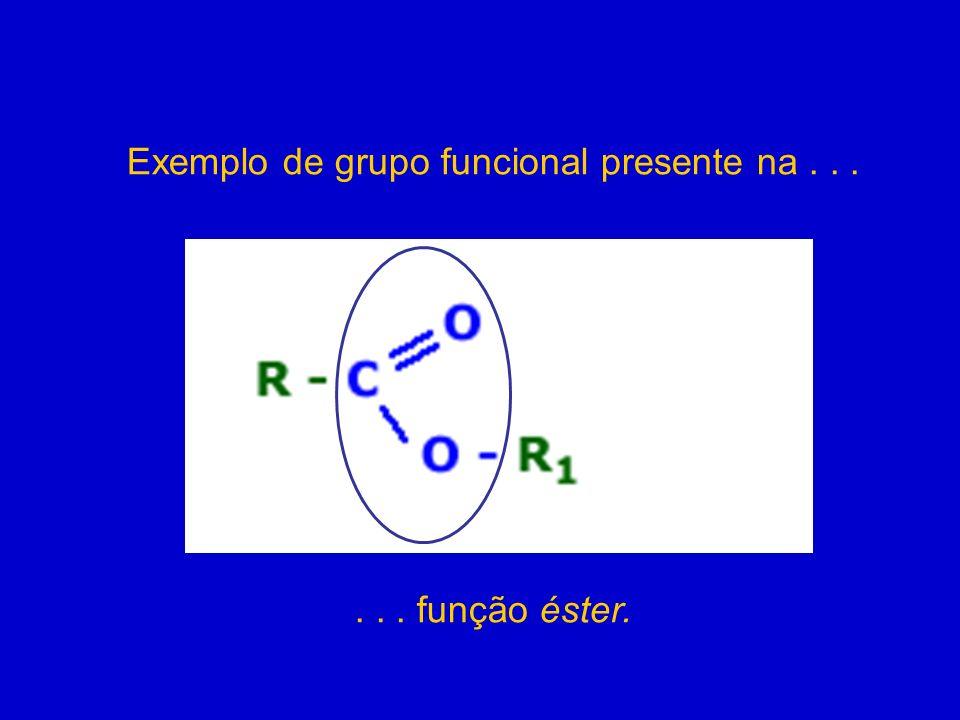 FUNÇÃOGRUPO FUNCIONAL EXEMPLOFÓRMULA GERAL Álcool-OH (carbono saturado) CH 3 CH 2 OHR - OH O principal álcool é o etanol, sendo combustível e solvente.