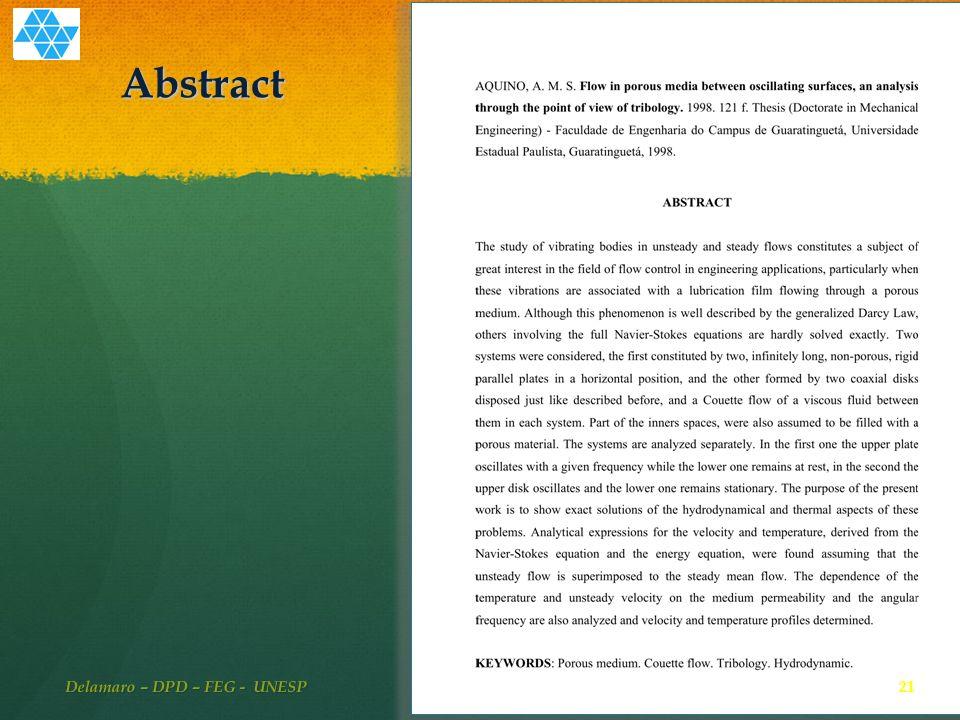 Abstract 21 Delamaro – DPD – FEG - UNESP