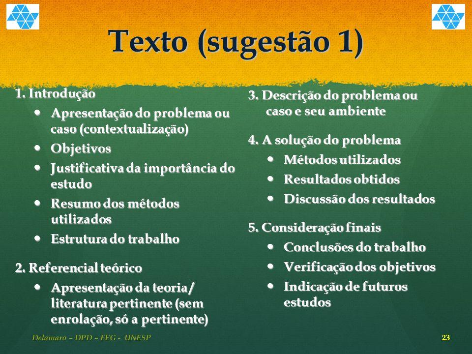 Texto (sugestão 1) 1.