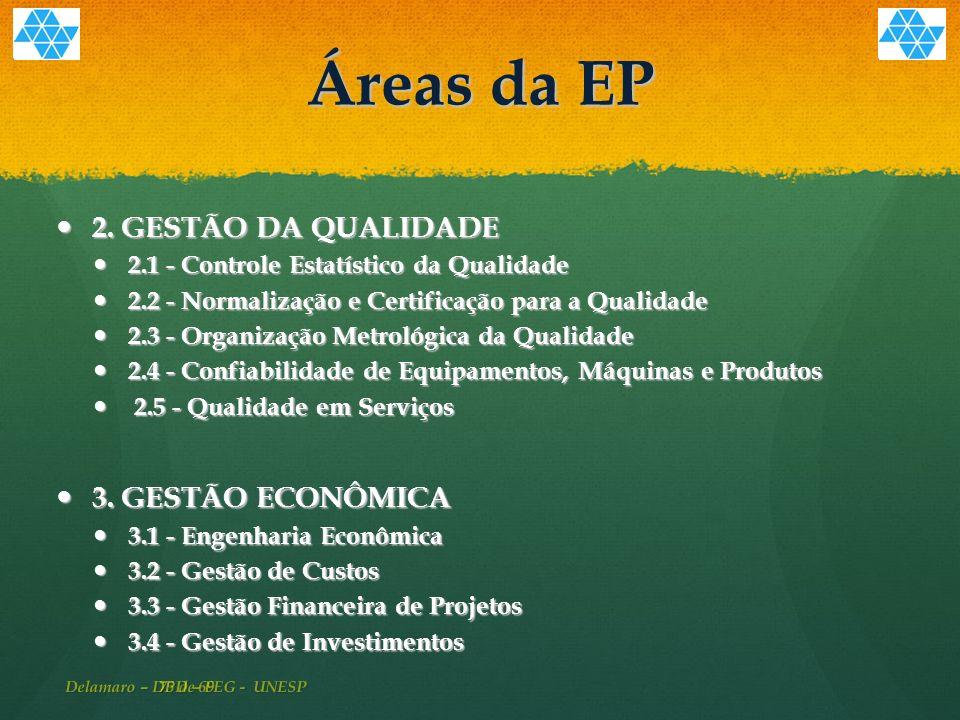 75 de 69 Áreas da EP 2.GESTÃO DA QUALIDADE 2.