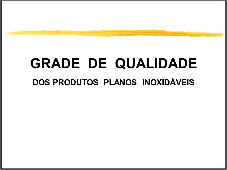 1 GRADE DE QUALIDADE DOS PRODUTOS PLANOS INOXIDÁVEIS