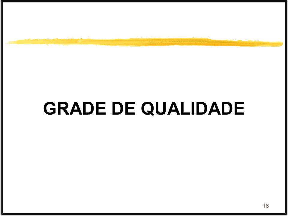 16 GRADE DE QUALIDADE