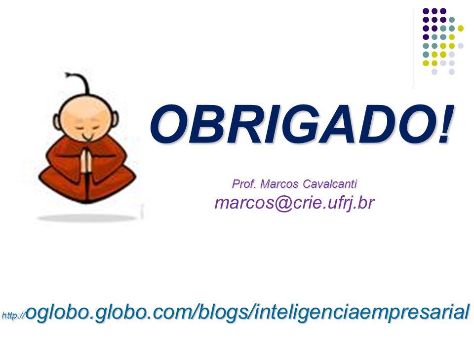 Prof. Marcos Cavalcanti Prof. Marcos Cavalcanti marcos@crie.ufrj.br OBRIGADO! http:// oglobo.globo.com/blogs/inteligenciaempresarial