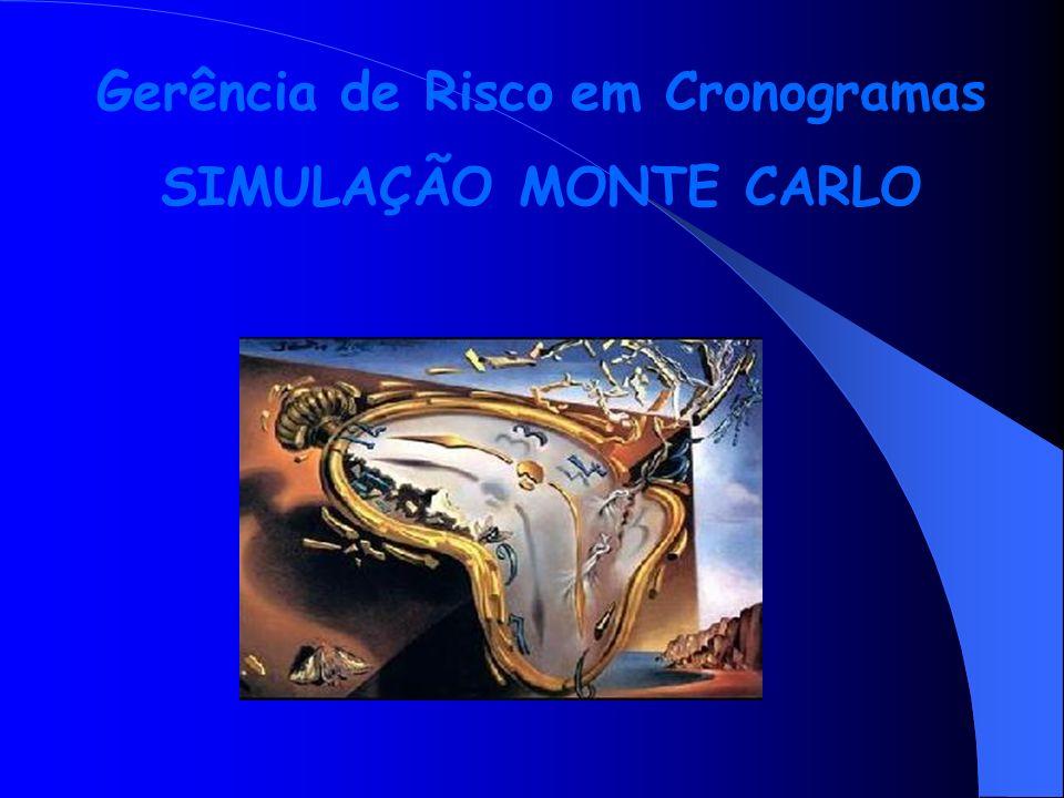 Gerência de Risco em Cronogramas SIMULAÇÃO MONTE CARLO