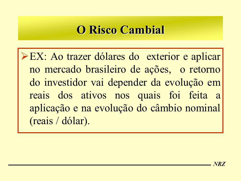 NRZ O Risco Cambial EX: Ao trazer dólares do exterior e aplicar no mercado brasileiro de ações, o retorno do investidor vai depender da evolução em re