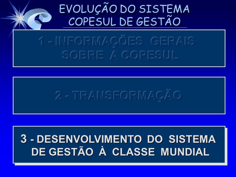 3 - DESENVOLVIMENTO DO SISTEMA DE GESTÃO À CLASSE MUNDIAL DE GESTÃO À CLASSE MUNDIAL 3 - DESENVOLVIMENTO DO SISTEMA DE GESTÃO À CLASSE MUNDIAL DE GEST