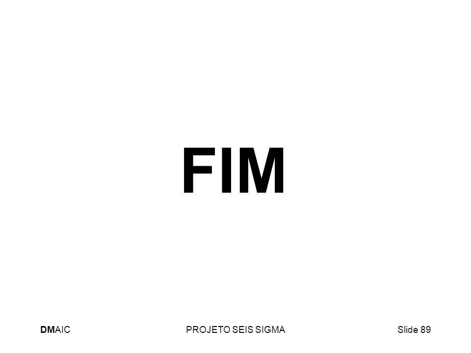 DMAICPROJETO SEIS SIGMASlide 89 FIM