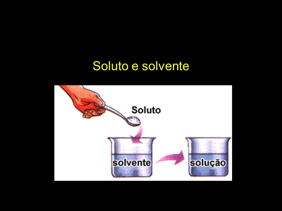 A t e n ç ã o a o s e x e m p l o s .Óleo se mistura com água, mas não se dissolve.