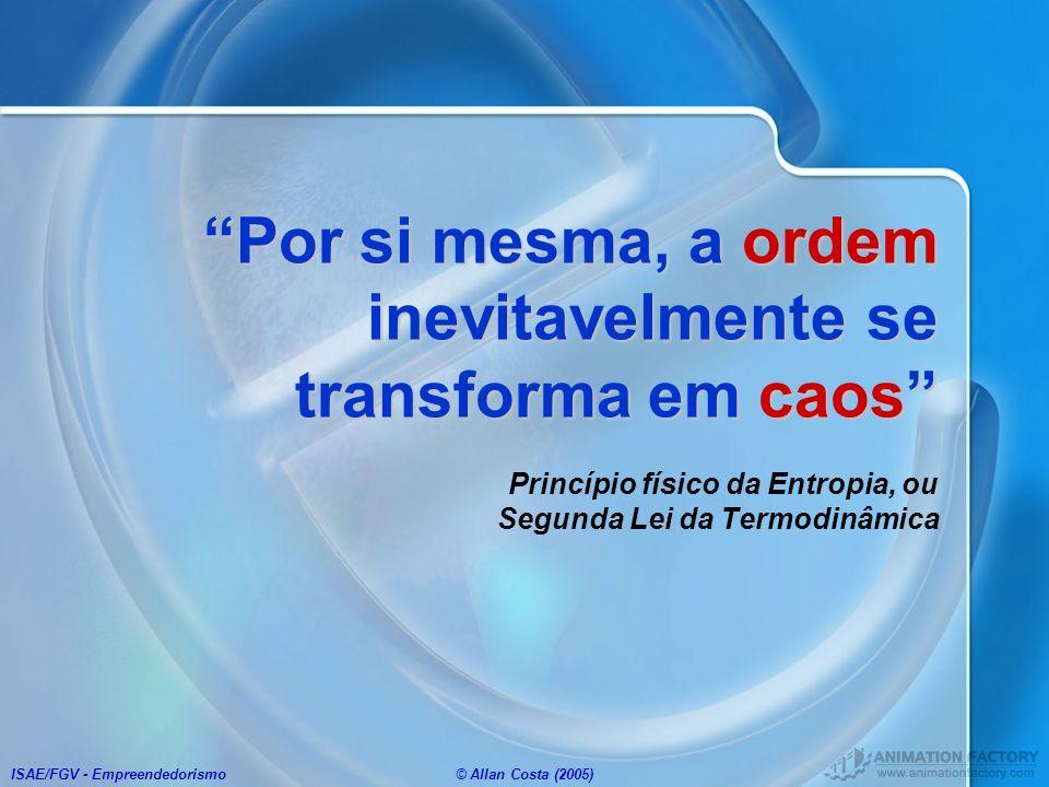 ISAE/FGV - Empreendedorismo© Allan Costa (2005) Por si mesma, a ordem inevitavelmente se transforma em caosPor si mesma, a ordem inevitavelmente se tr