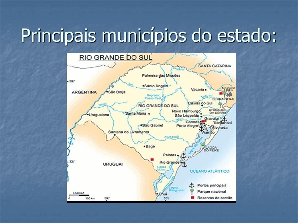 Principais municípios do estado: